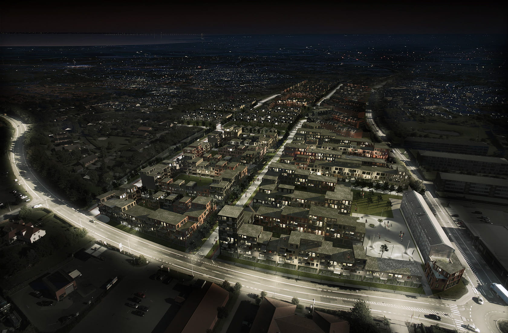 Visionsplan Ringparken night overview