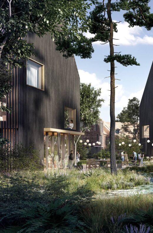 Schillerkvarteret grønt område med træ