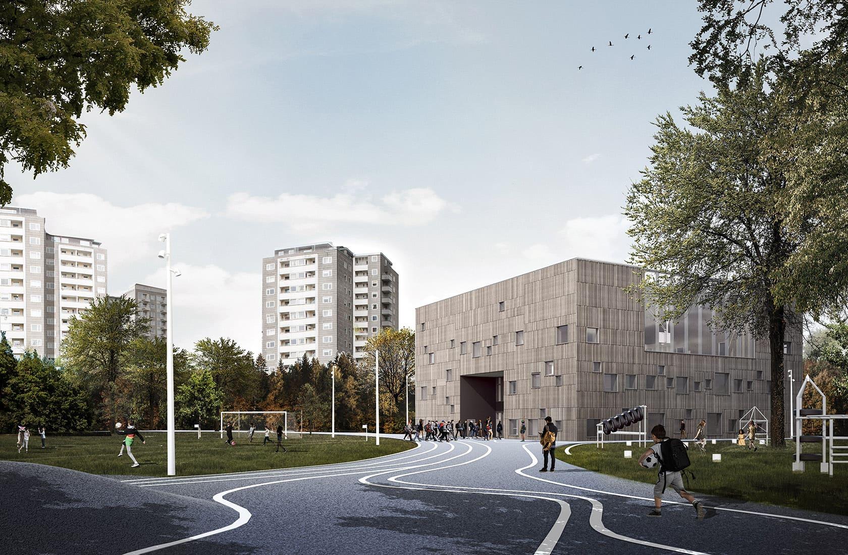 Bellahøj Skole ny bygning