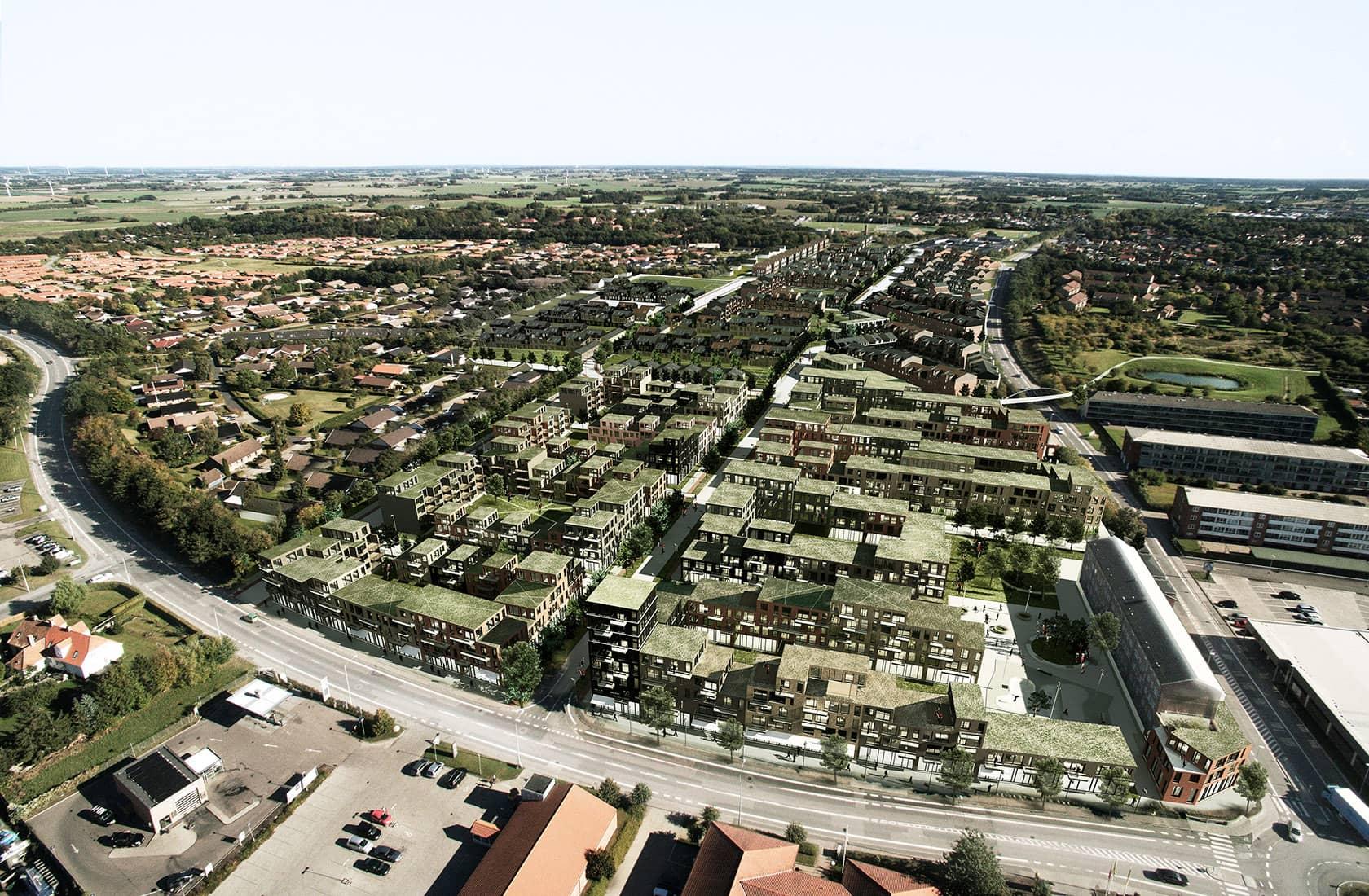 Ny Ringby overview i dagslys