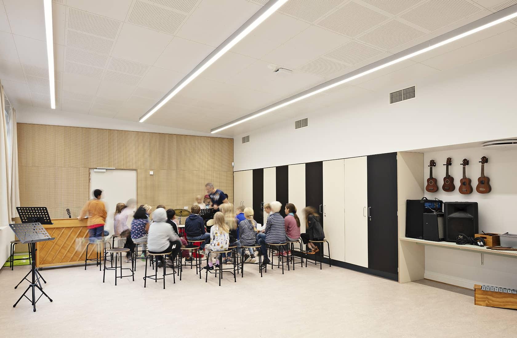 Holbergskolen musiklokale