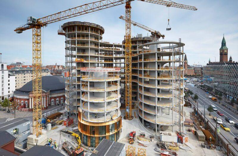Axel Tower under opførelse