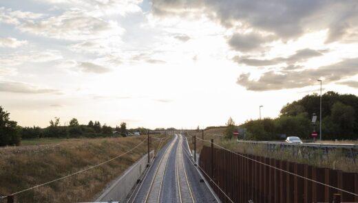 KBH - Ringstedbanen med solnedgang