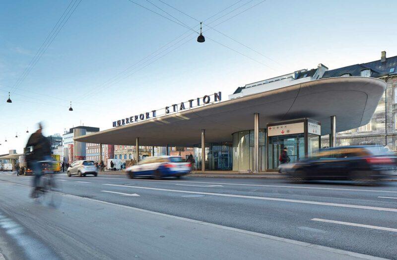 Nørreport Station med trafik
