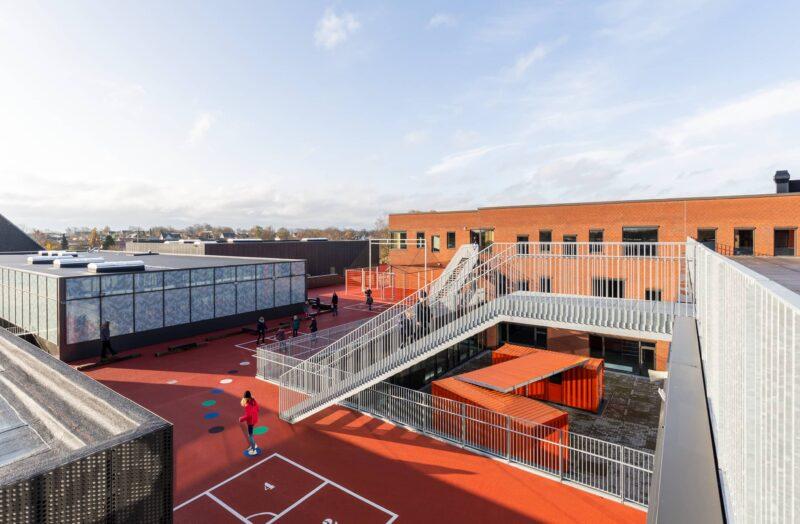 Lindebjergskolen tagareal