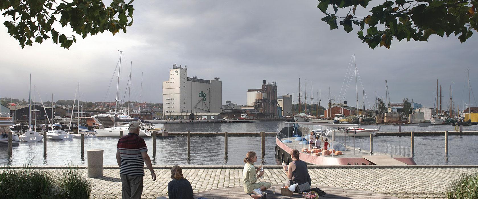 Den Blå Kant med havnen