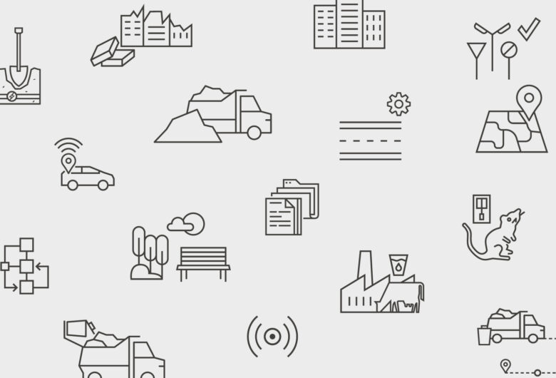 Digitale løsninger ikoner