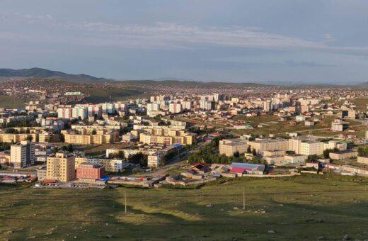 Mongolsk by på slette