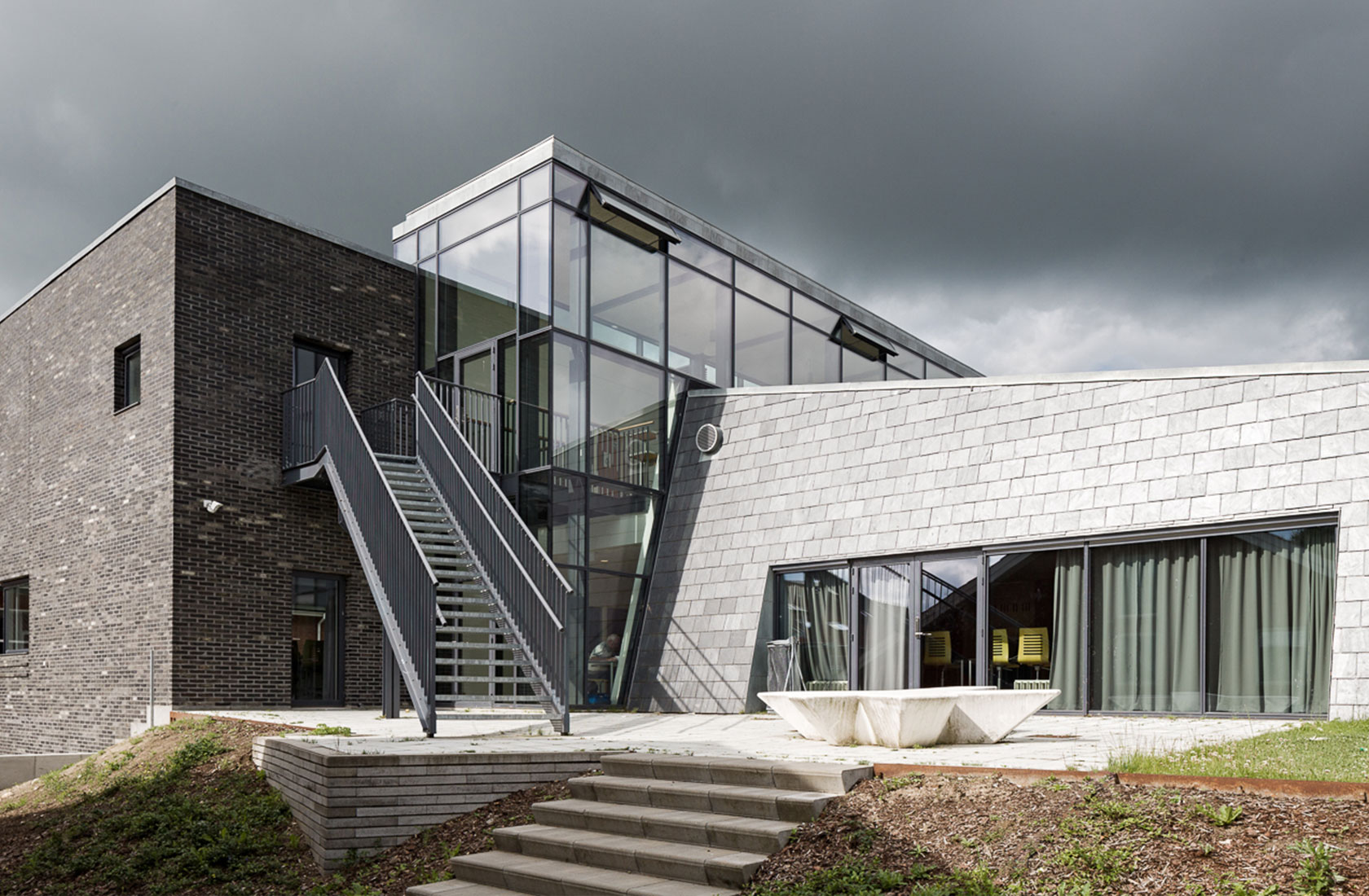 Frederiksborg Gymnasium trappeindgang
