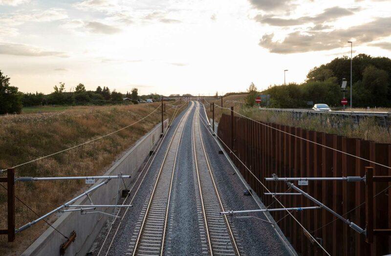 KBH - Ringstedbanen med solnedgang 2