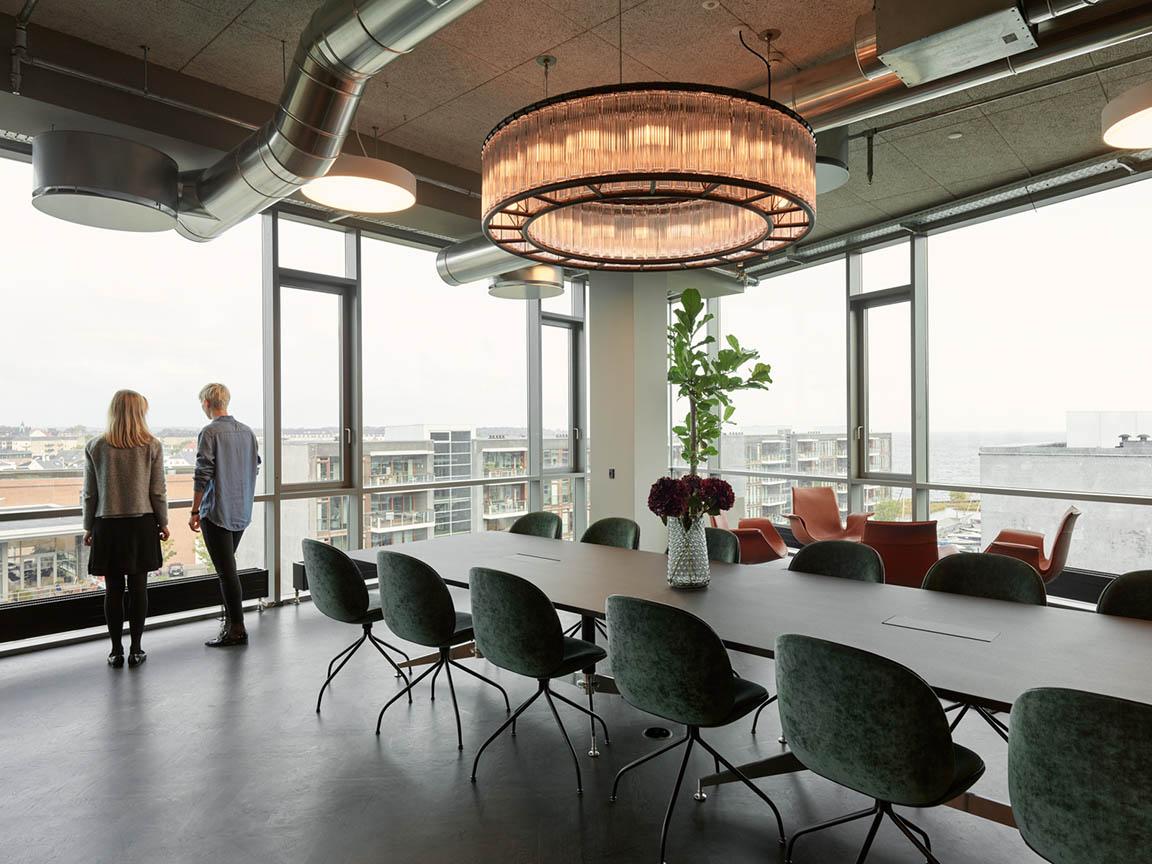 Lundgrens mødelokale med udsigt
