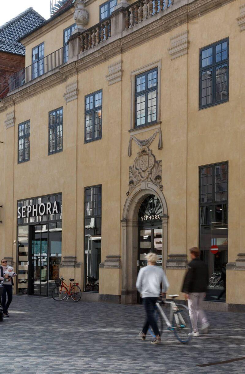 Postgården Sephoras facade