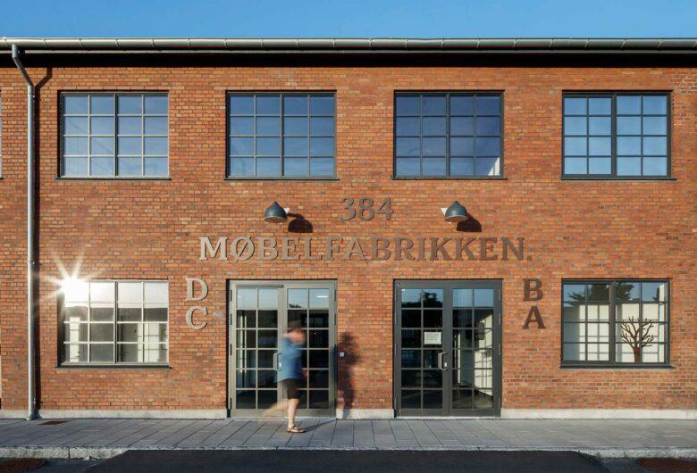 Søborg Møbelfabrik gammel facade