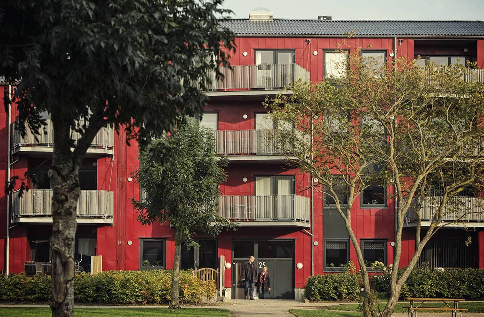 Rødt boligbyggeri