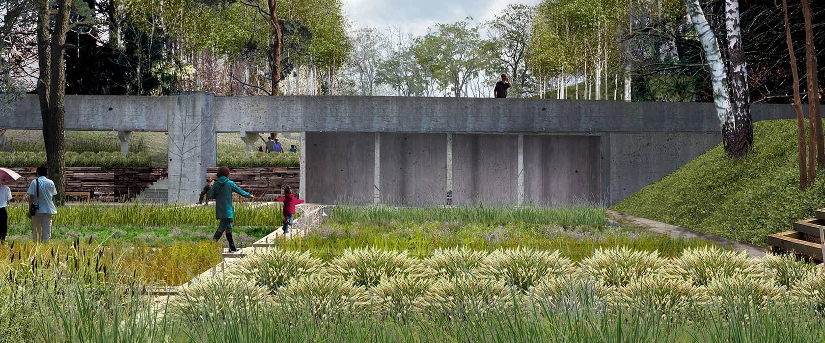 Ålebækken Ruinpark visualisering