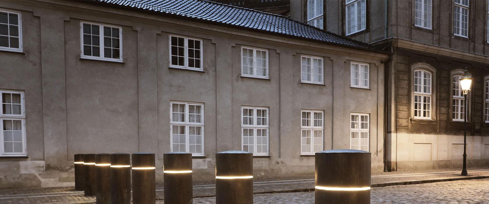 Pullerter ved Amalienborg Slotsplads
