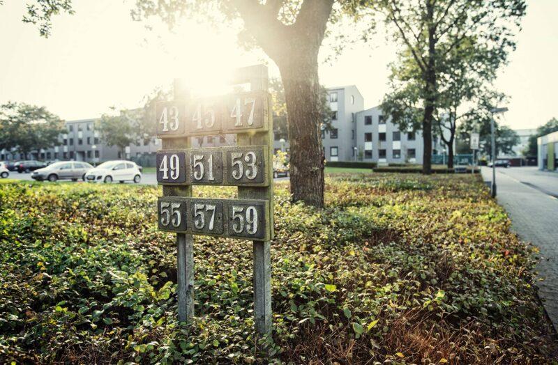 Husnumre ved Brændgårdsparken