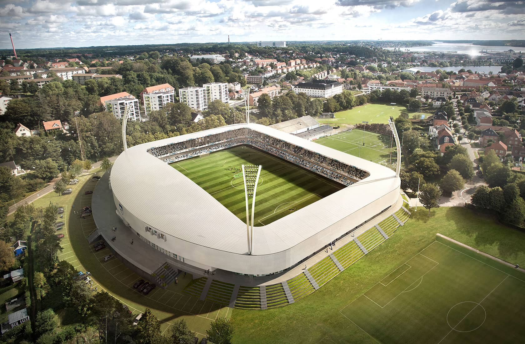 Kolding Stadion fra luften