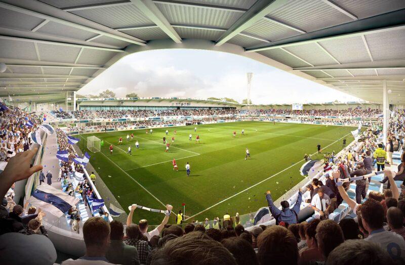 Rendering af tilskuere på Kolding Stadion