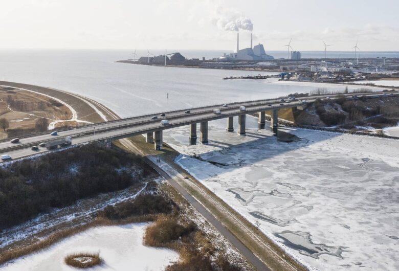 Øresundsmotorvejen om vinteren