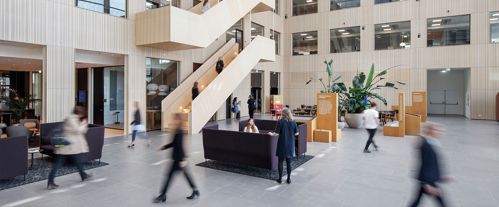 Sweco HQ atrium