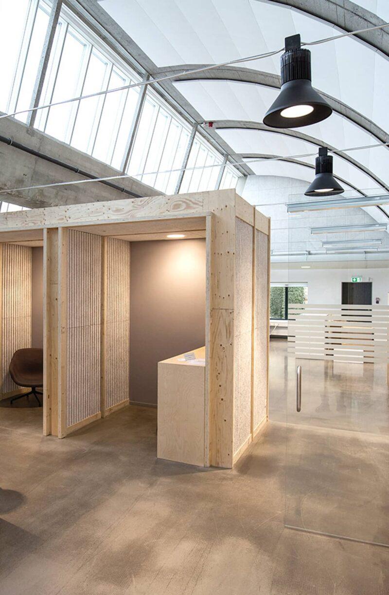 Indretning på Swecos kontor i Willemoesgade
