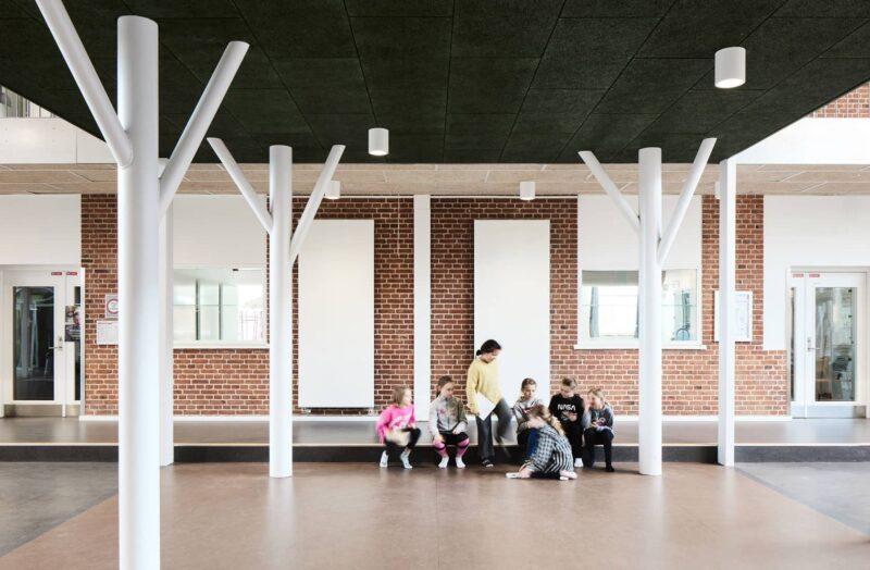 Børn i aktivitetsområdet i Kjellerup Skole