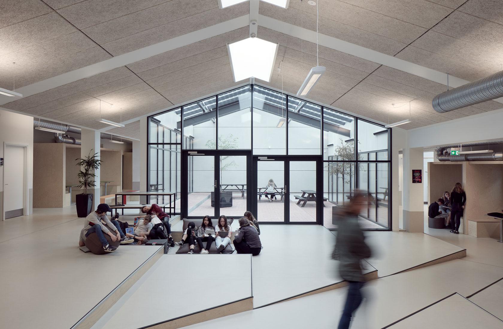 Fællesareal i Solvangskolen